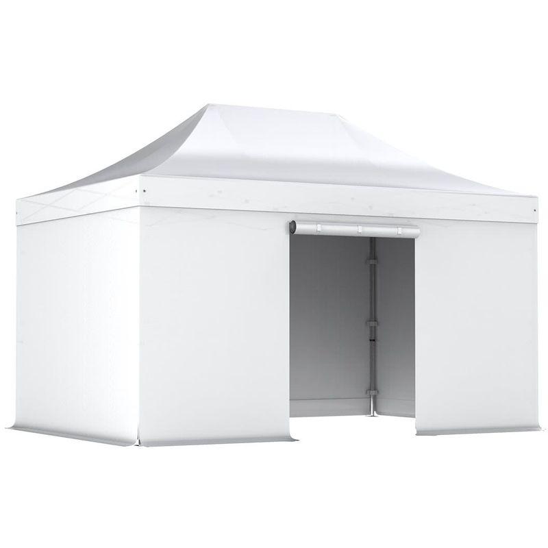 INTEROUGE Barnum pliant tonnelle 3x4.5m Pack complet Alu 40 polyester 300g/m² pelliculé