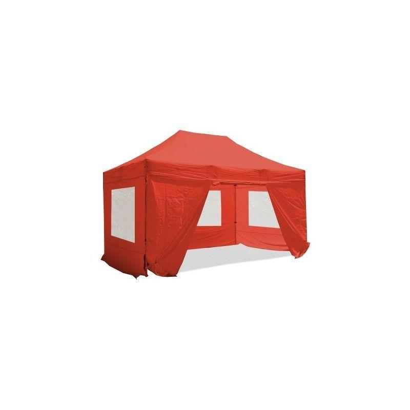 Interouge - Barnum pliant 3x4.5m Pack fenêtre Alu 40 polyester 300g/m²