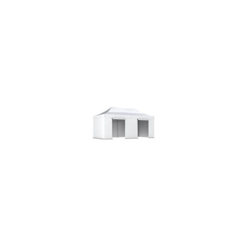 INTEROUGE Barnum pliant tonnelle 3x6m Pack complet Alu 40 polyester 300g/m² pelliculé PVC