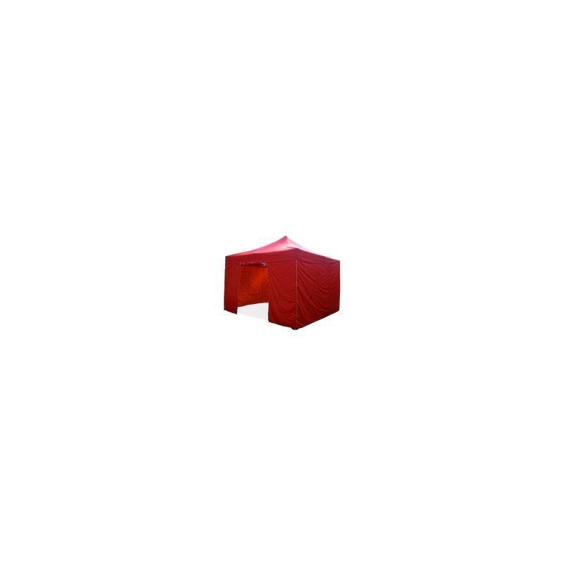 INTEROUGE Barnum pliant tonnelle 4x4m Pack complet Alu 40 polyester 300g/m² pelliculé PVC