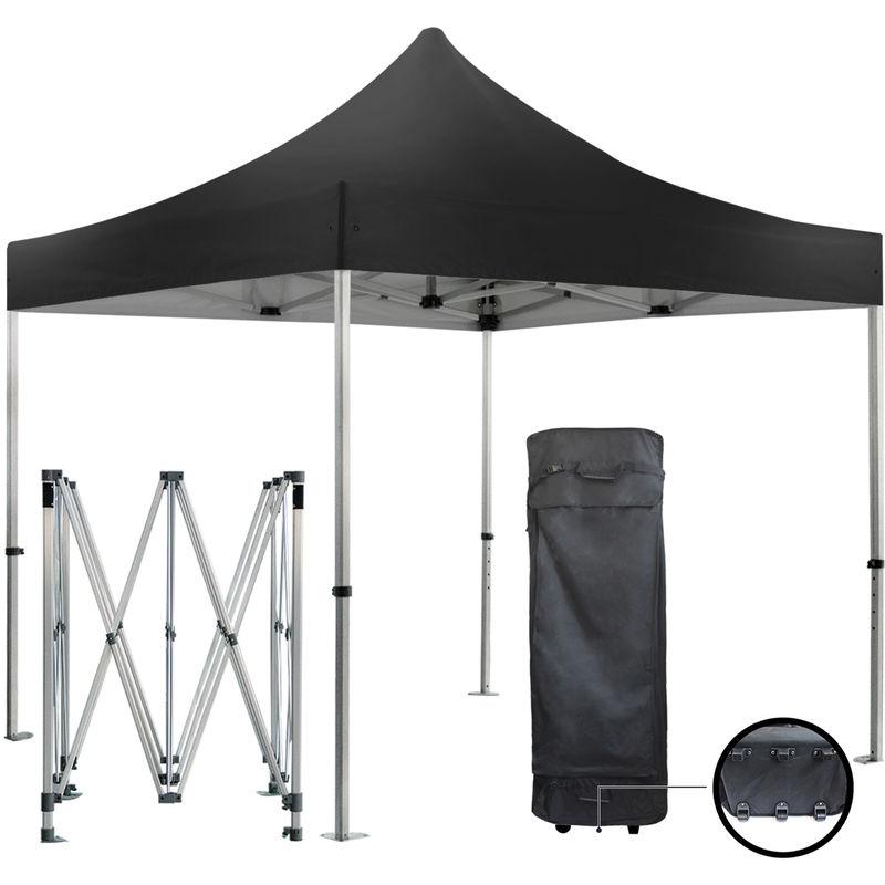 GREADEN Barnum pliante 3x3m 50mm en aluminium premium PRO 520Gr/m2 étanche noire tente
