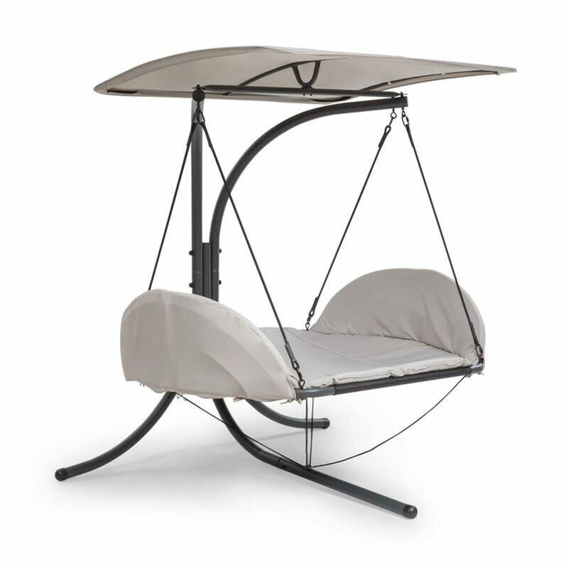 BLUMFELDT Fountain Valley Chaise longue suspendue coussin d'assise auvent Polyes
