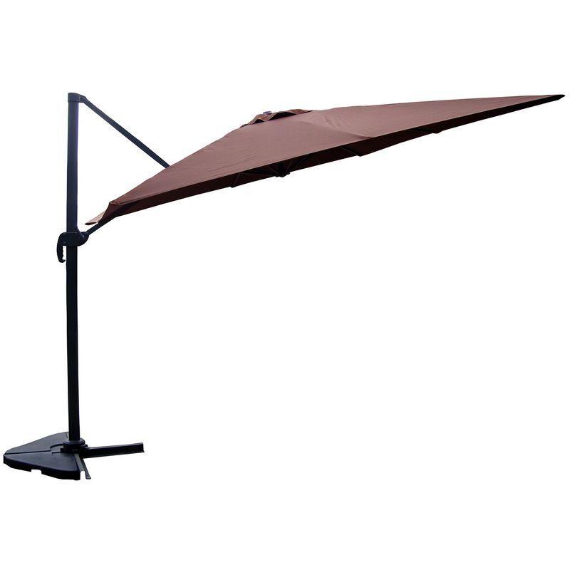 Concept-usine - Cesare chocolat : Parasol déporté, rectangulaire de 3x4m ,