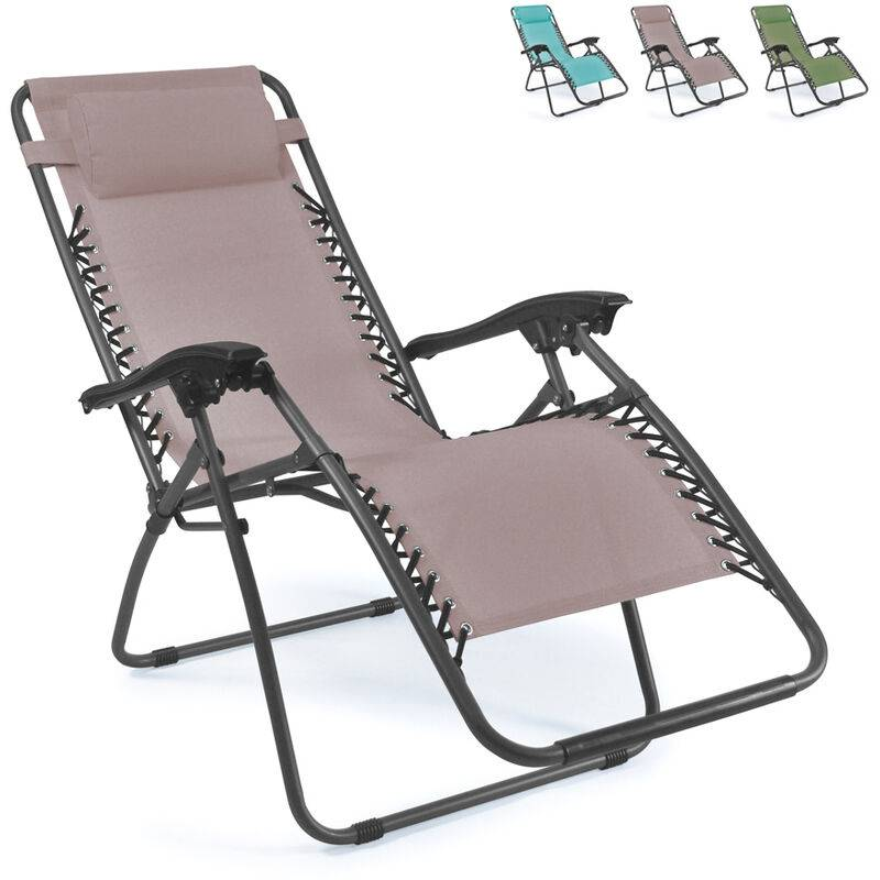 BEACH AND GARDEN DESIGN Chaise longue de plage et de jardin pliante multi-positions EMILY Zero Gravity