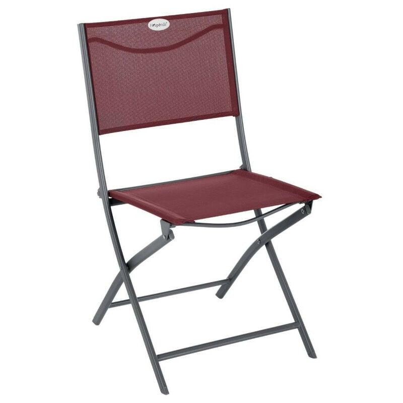 HESPERIDE Chaise pliante extérieur Modula bordeaux/graphite Hespéride - Prune
