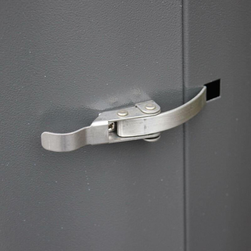 ALICE'S GARDEN Chauffage d'extérieur gaz 12,5kW - Finland - Parasol chauffant gris réglable,