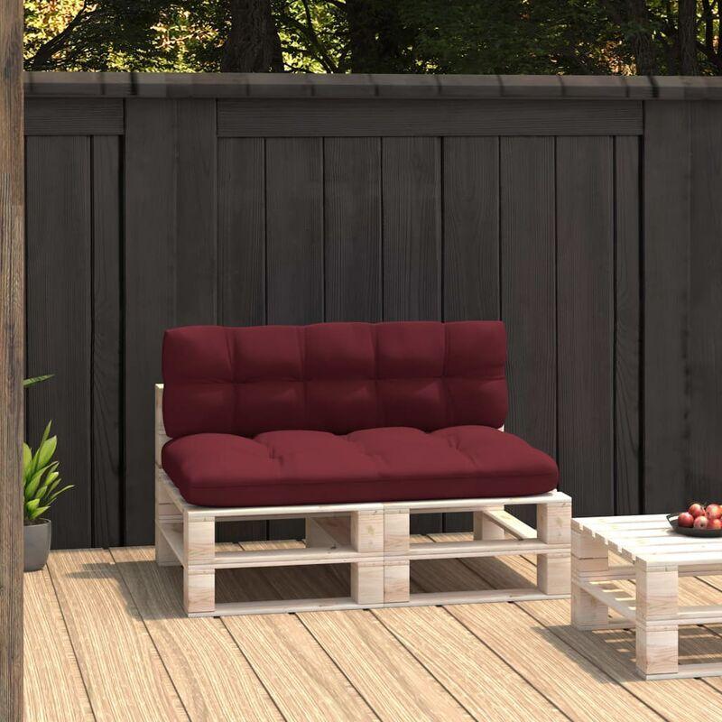 ILOVEMONO Coussins de canapé palette 2 pcs Rouge bordeaux