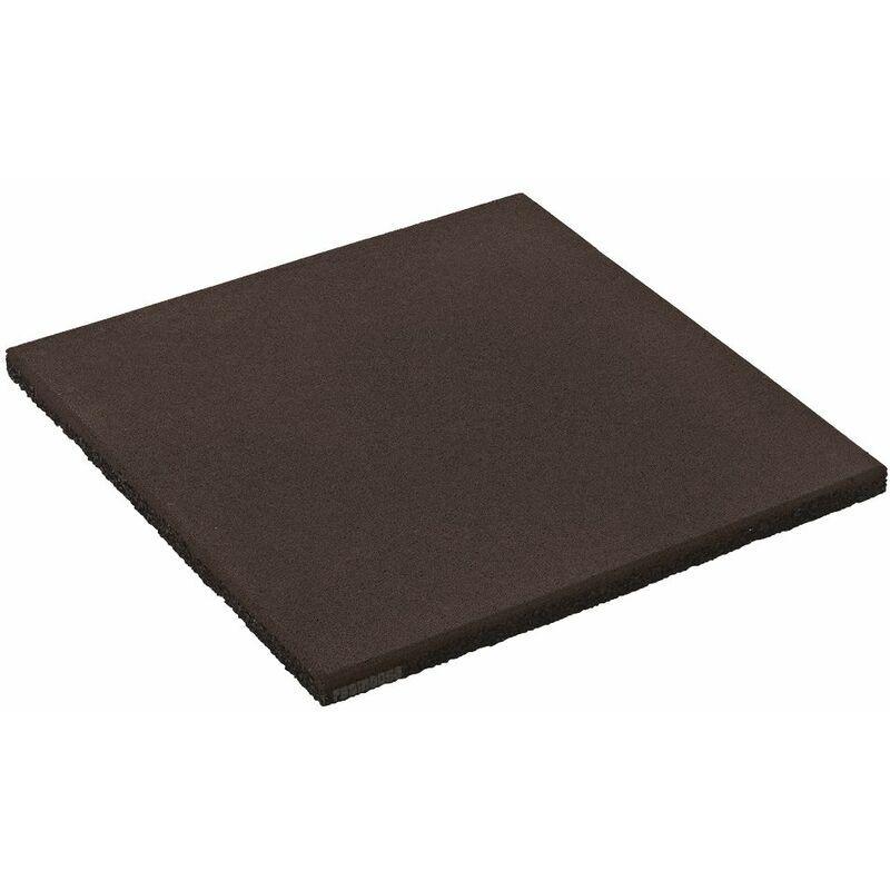 WICKEY Dalle en caoutchouc 50x50x2,5 cm noir pour aire de jeux, portique