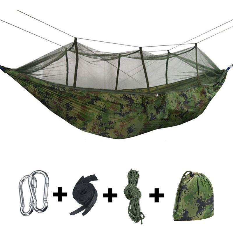 KINGSO Hamac avec moustiquaire Ultra-léger Voyage Camping Exterieur Jardin Lit