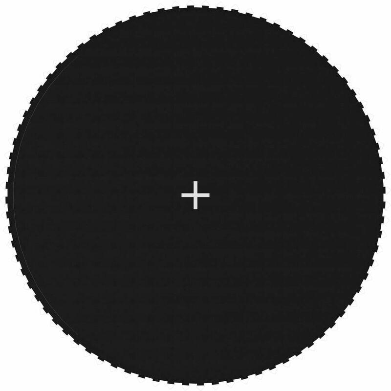 Hommoo Tapis de saut Tissu Noir pour trampoline rond de 4,27 m HDV47689