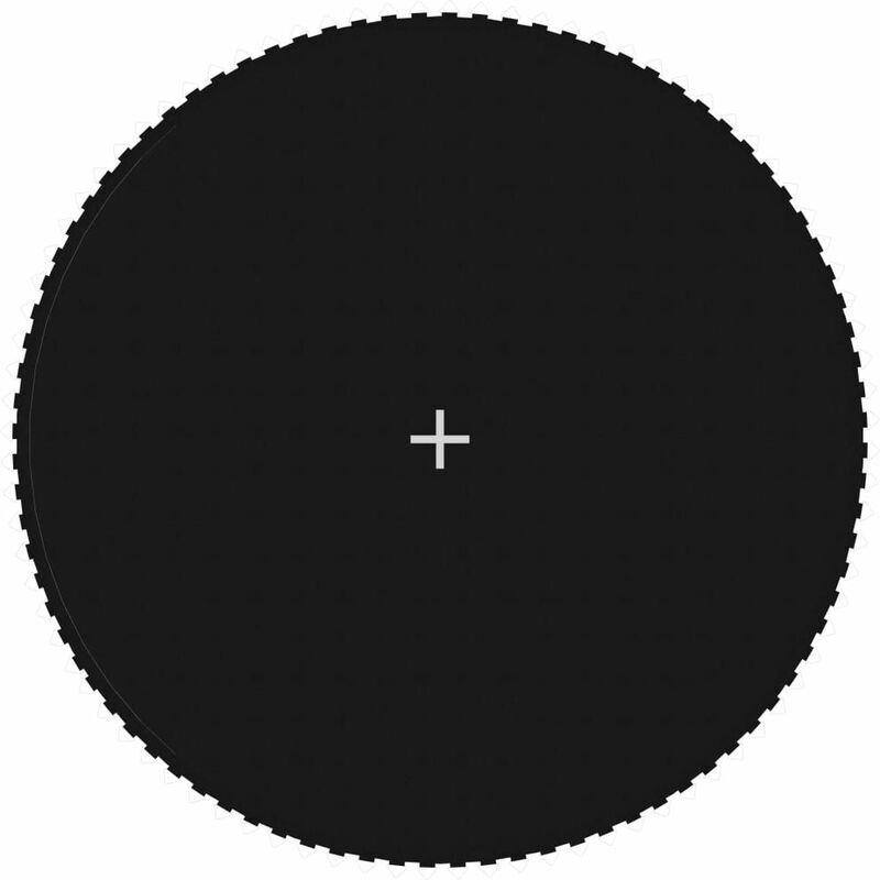 HOMMOO Tapis de saut Tissu Noir pour trampoline rond de 4,57 m HDV47690 - Hommoo
