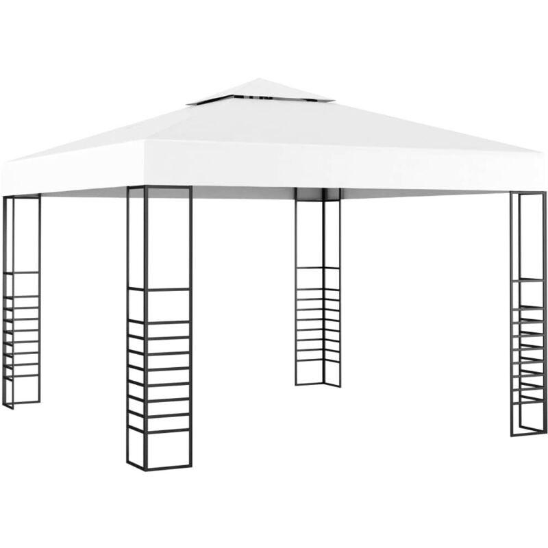 HOMMOO Tonnelle de jardin 3 x 3 m Blanc HDV46254 - Hommoo