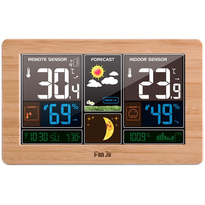FANJU Horloge de prevision meteorologique livree sans batterie - Fanju