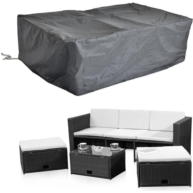 MUCOLA 247x130x108 CM Housse de protection pour meubles de jardin pour bâches en tissu