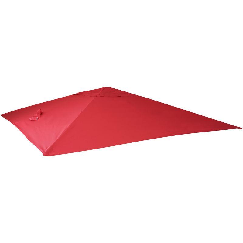 HHG Housse de rechange pour parasol déporté 3 x 4 m ~ rouge - HHG