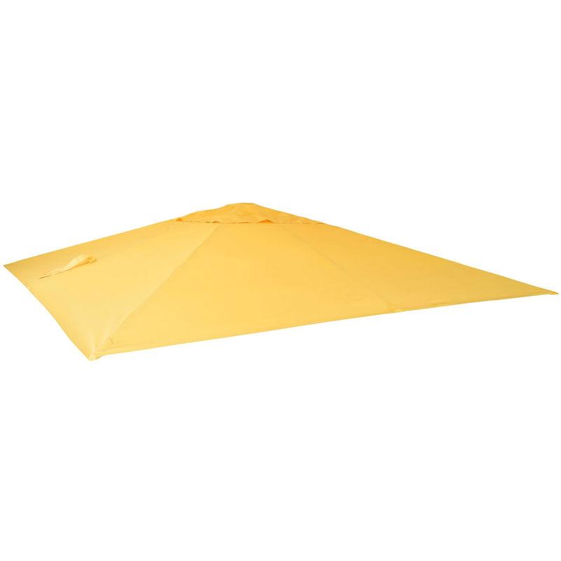 HHG Housse de rechange pour parasol déporté 3 x 4 m ~ jaune - HHG