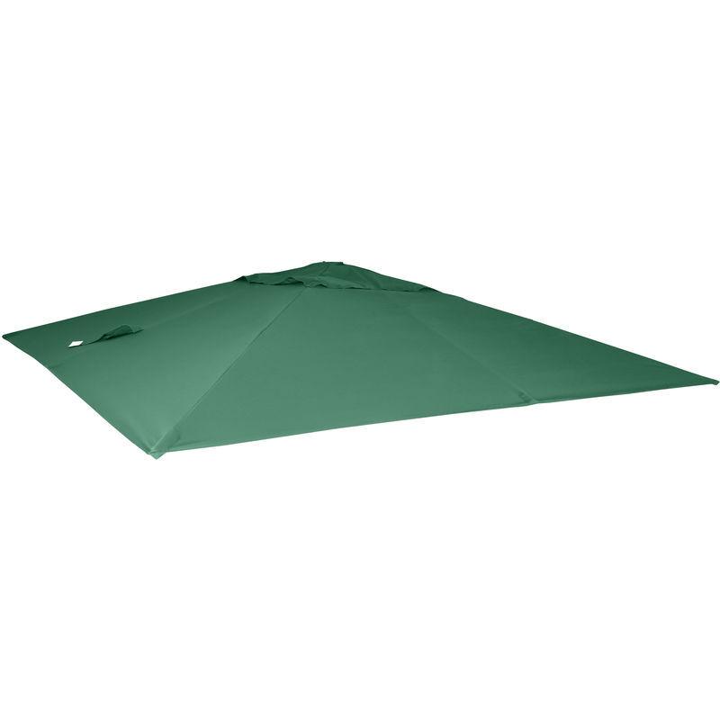 HHG Housse de rechange pour parasol déporté 3 x 4 m ~ vert foncé - HHG