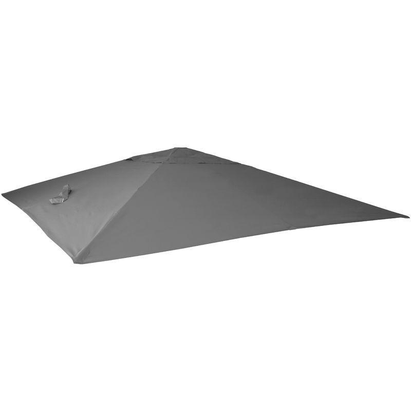 HHG Housse de rechange pour parasol déporté 3 x 4 m ~ anthracite - HHG