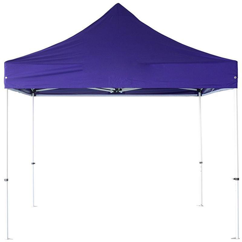 INTEROUGE Tente pliante pergola tente de jardin tonnelle 3x3 M Acier 32mm - Bâche 300g/m²