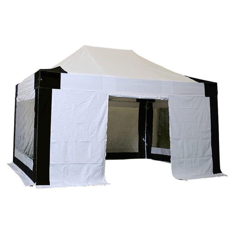 Interouge - Tente pliante pergola tente de jardin tonnelle 3x4.5 M en Acier et