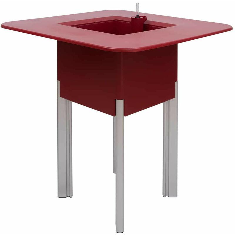 MONDUM Kit Mediterraneo 95Cr: Jardinière Modulaire Carré Rouge 95 H Pieds Aluminium