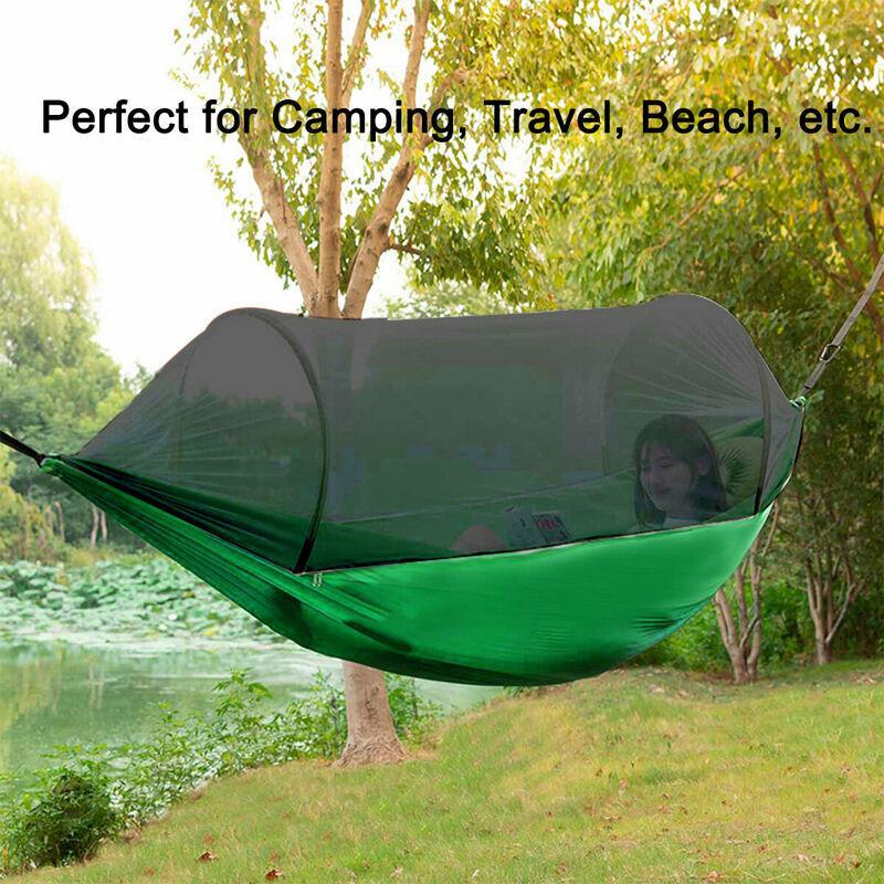 MOHOO Lit hamac suspendu extérieur portable balan?ant anti-moustiquaire Camping