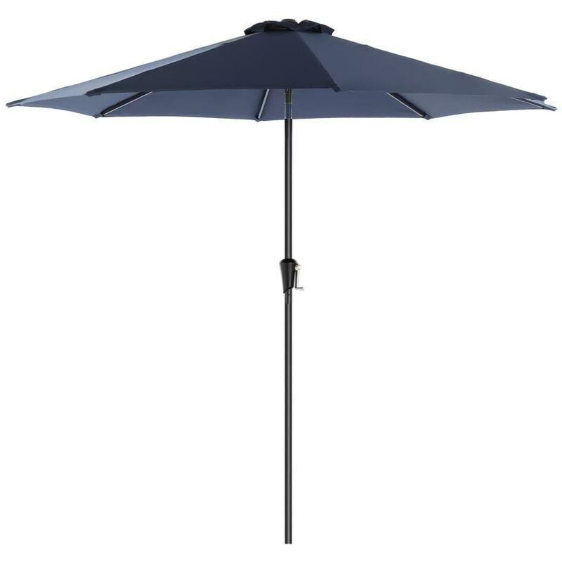 SONGMICS Parasol de jardin Ø2,7 m, Ombrelle, protection UPF 50+, toile polyester