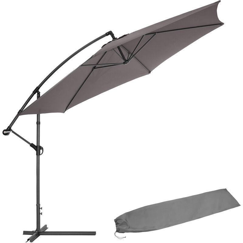 Tectake - Parasol 350 cm avec housse de protection - parasol jardin, parasol