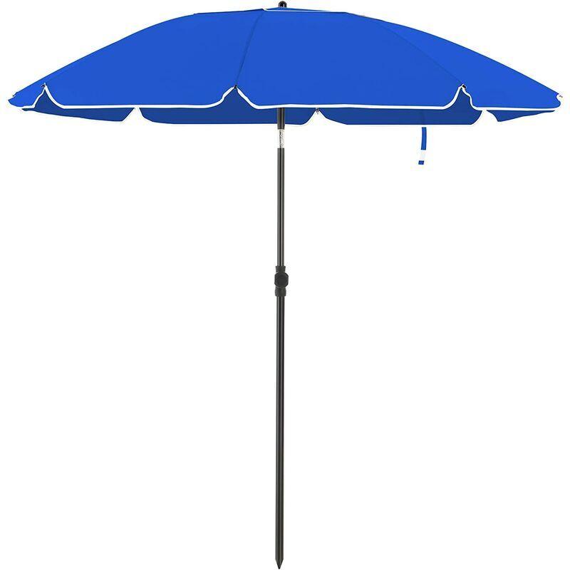 SONGMICS Parasol de jardin Ø 2 m, Ombrelle, protection UPF 50+, inclinable, portable,