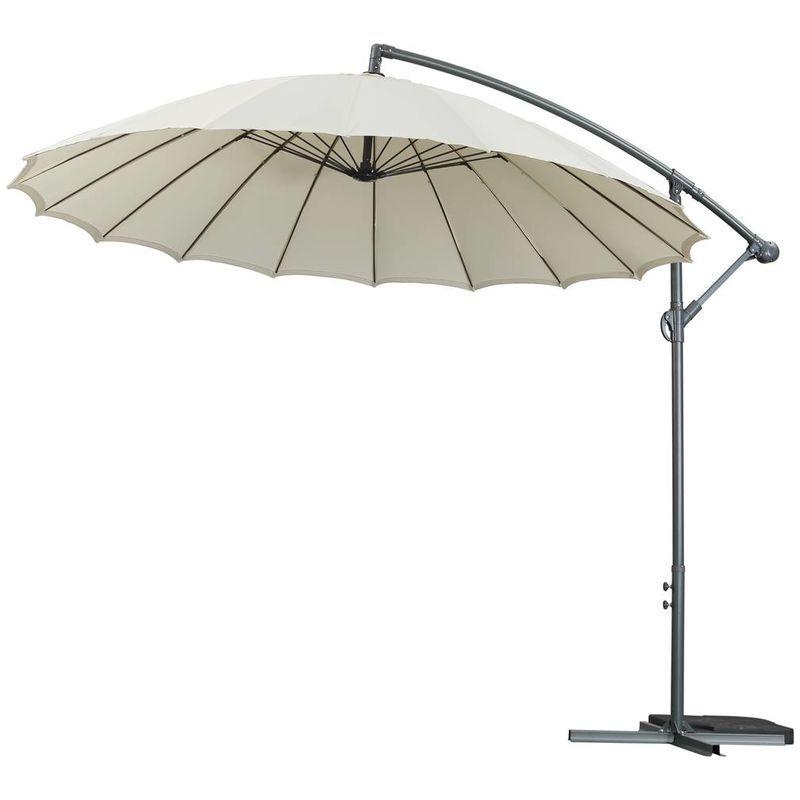 HABITAT ET JARDIN Parasol jardin déporté Alu 'Lili 3' - Style Japonais - Ø3m - Ecru