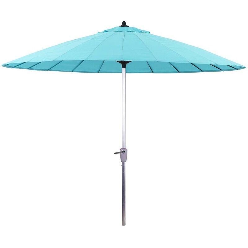 HABITAT ET JARDIN Parasol jardin droit Alu 'Lili'- Style Japonais - Ø2.7m - Bleu