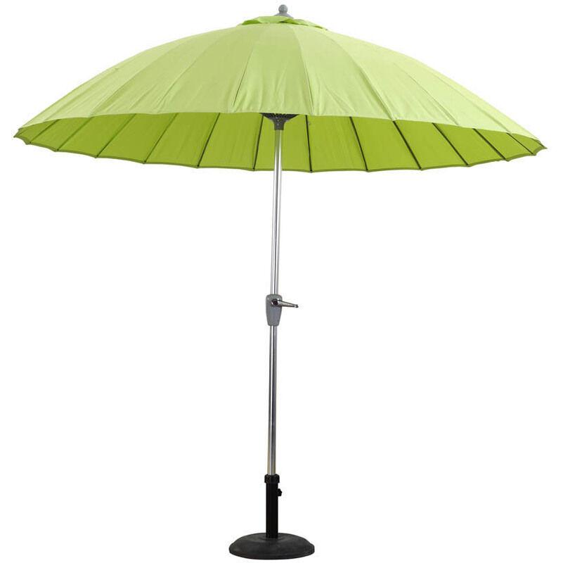 "HABITAT ET JARDIN Parasol jardin droit Alu ""Lili""- Style japonais - Ø2.7m - Vert anis"