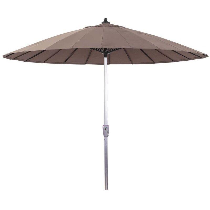 HABITAT ET JARDIN Parasol jardin droit Alu 'Lili' - Style Japonais - Ø2.7m - Taupe