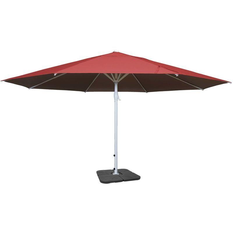 HHG Parasol Meran II, gastronomie, parasol pour marché, Ø 5m polyester,poteau