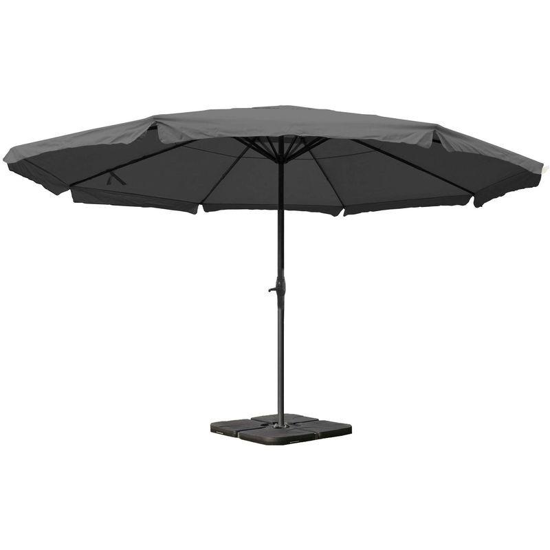 HHG Parasol Meran Pro, gastronomie, parasol pour marché avec volantsØ 5m