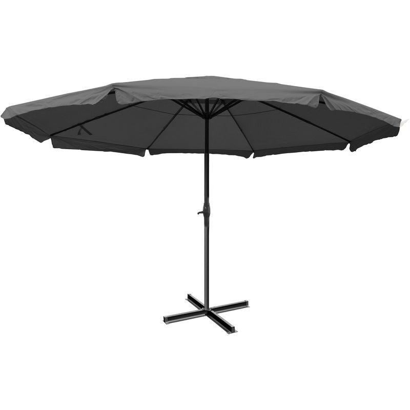 HHG Parasol Meran Pro, parasol pour marché avec volants Ø 5m polyester/alu 28 kg ~