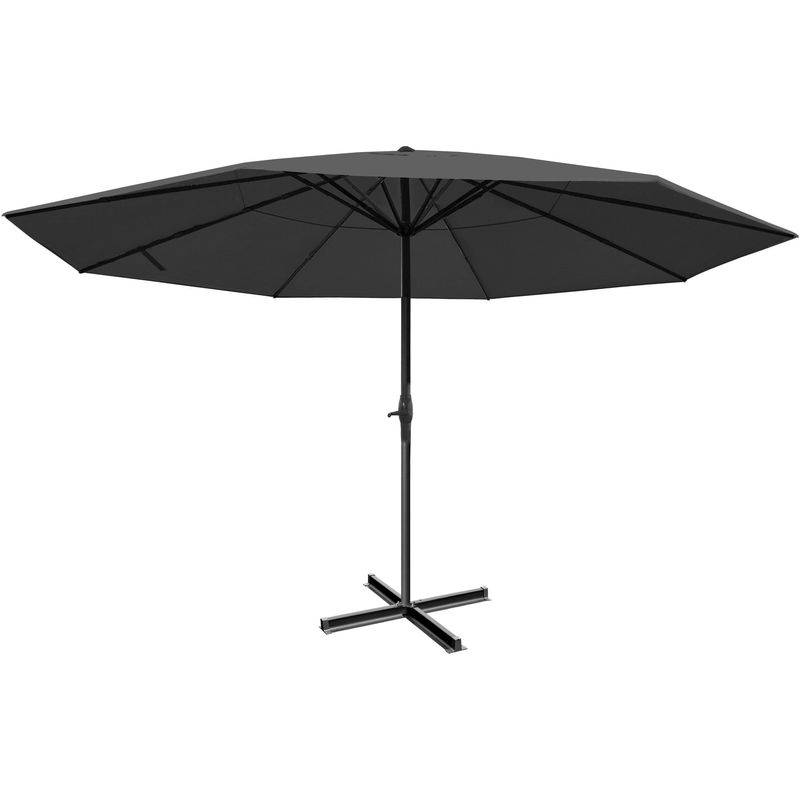 HHG - Parasol Meran Pro, parasol pour marché sans volants Ø 5m polyester/alu 28