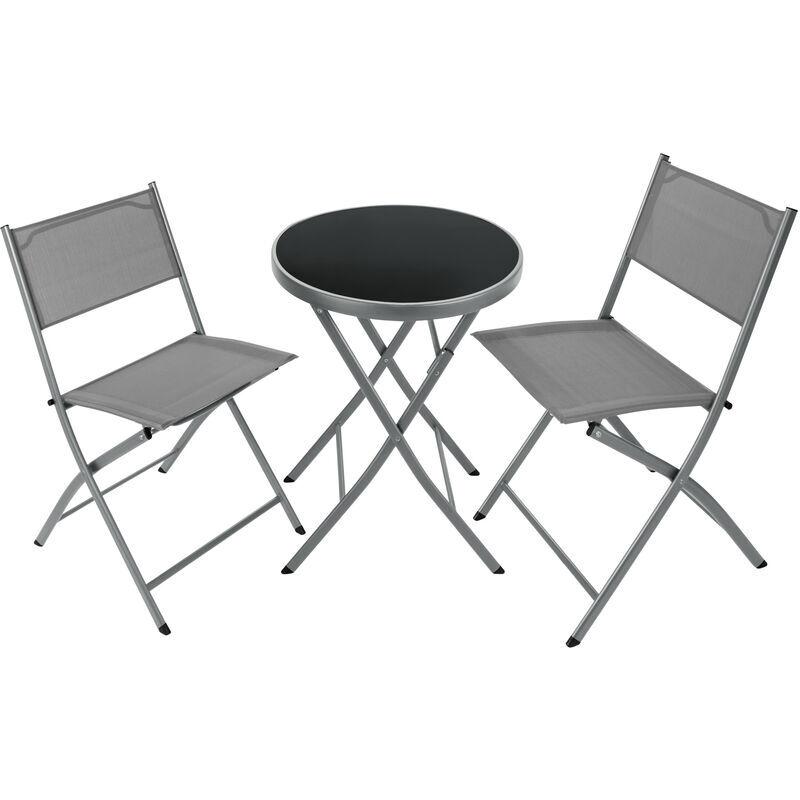 Tectake - Ensemble table et chaises de jardin DUSSELDORF - mobilier de jardin,