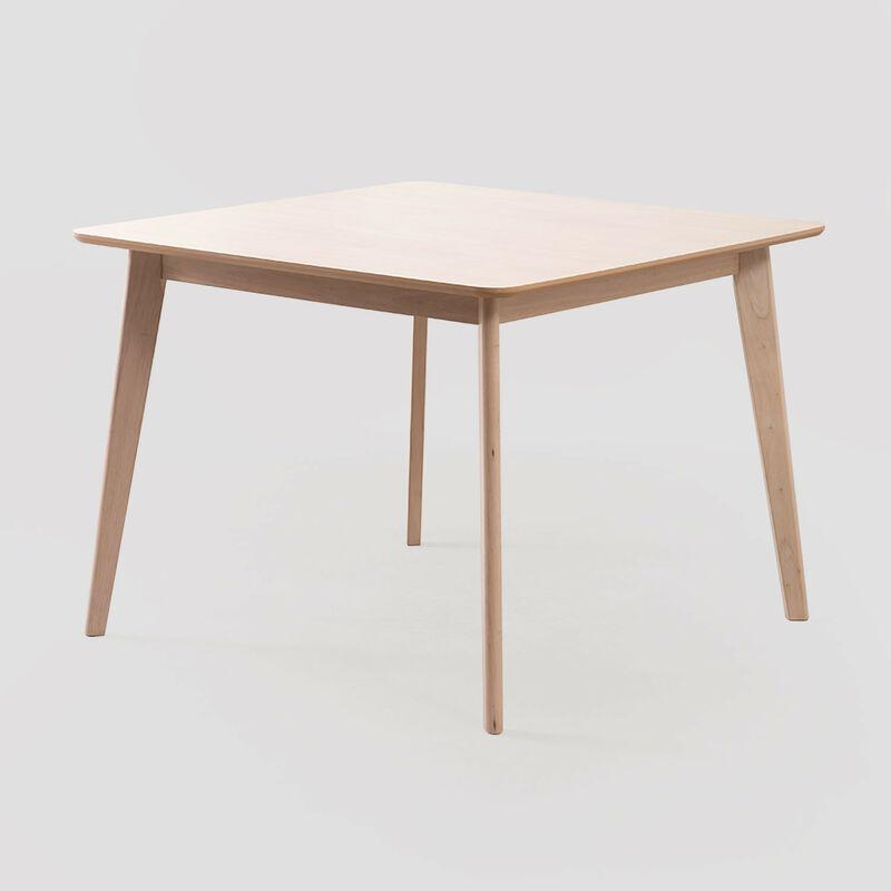 SKLUM Table de salle à manger carrée Kerhen en MDF MDF Marron Cendré - Marrón