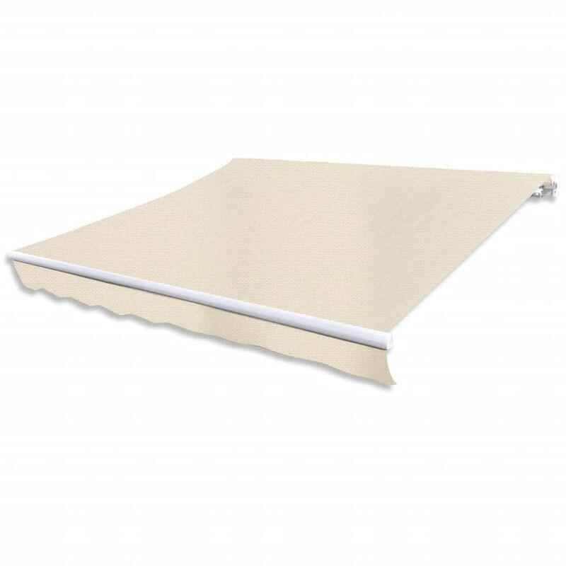 YOUTHUP Store banne avec cadre 4 x 3 m Blanc crème