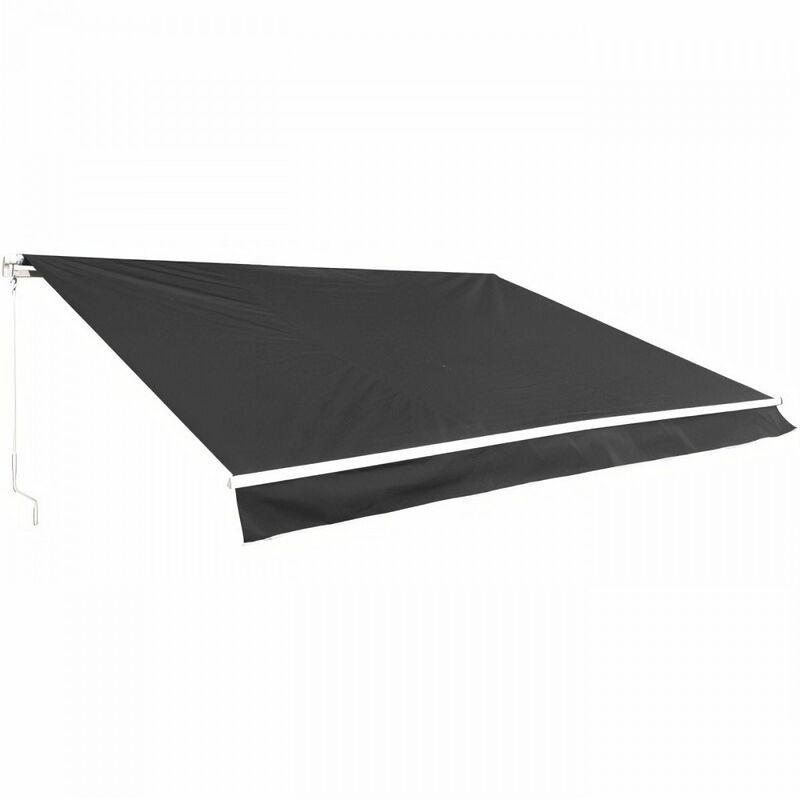 Beau Rivage - Store banne manuel 4 x 3 m - sans coffre - toile grise anthracite