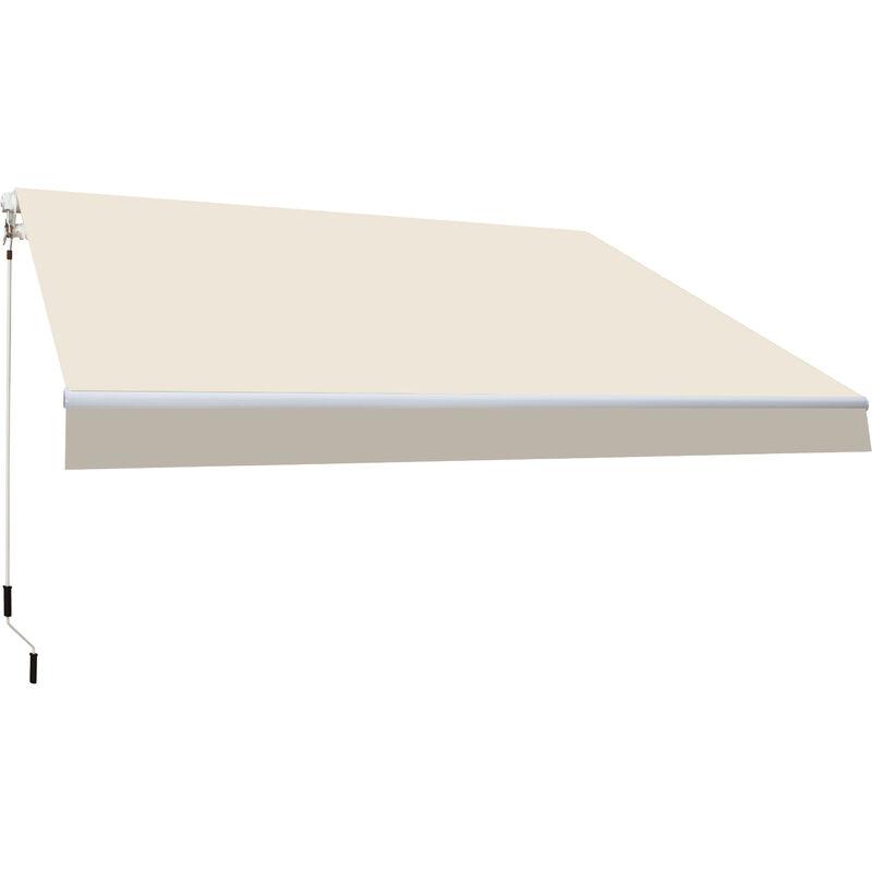 SMARTSUN Store banne manuel 4x2,5m Smartsun toile acrylique �cru