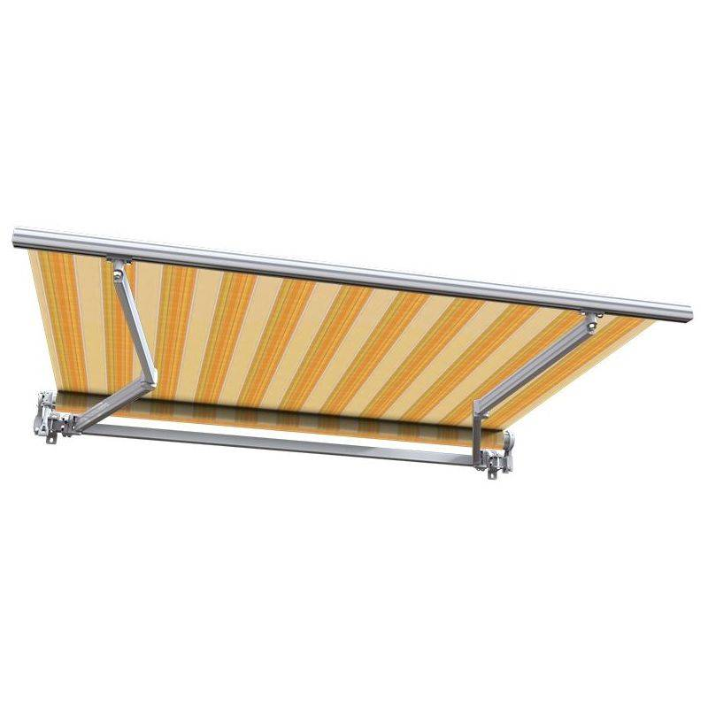 SUNNY INCH ® Store banne manuel Monobloc pour terrasse - Jaune rayé - 3,6 x 3 m