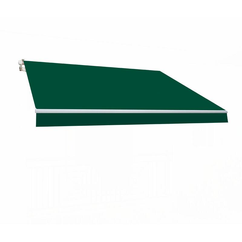 SMARTSUN Store banne manuel 3x2m Smartsun toile polyester vert