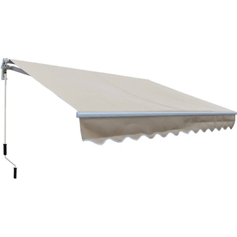 SMARTSUN Store banne manuel 3x2m Smartsun toile polyester beige