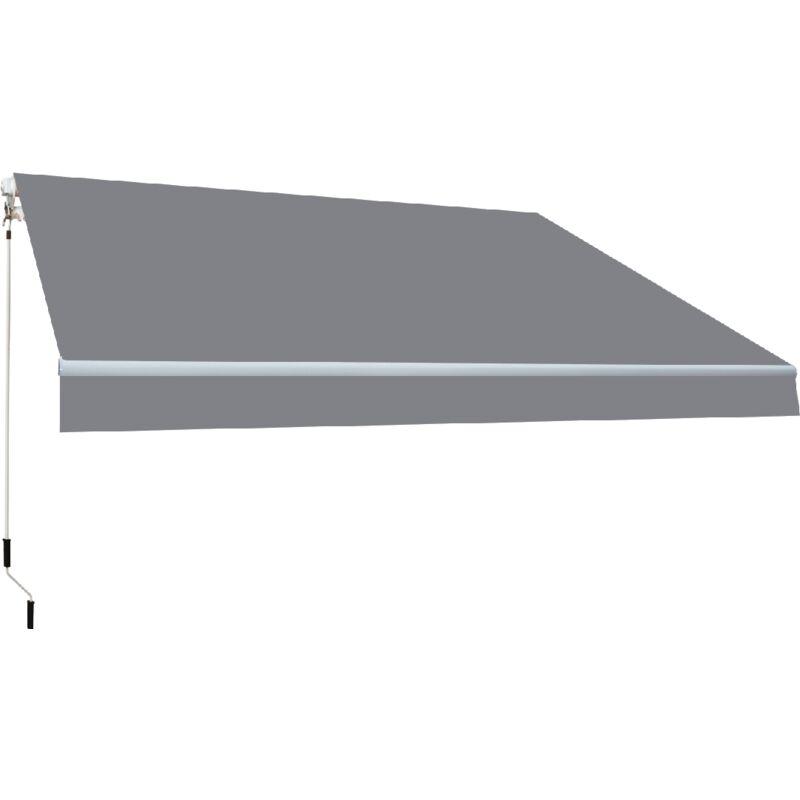SMARTSUN Store banne manuel 4x2,5m Smartsun toile acrylique de couleur grise