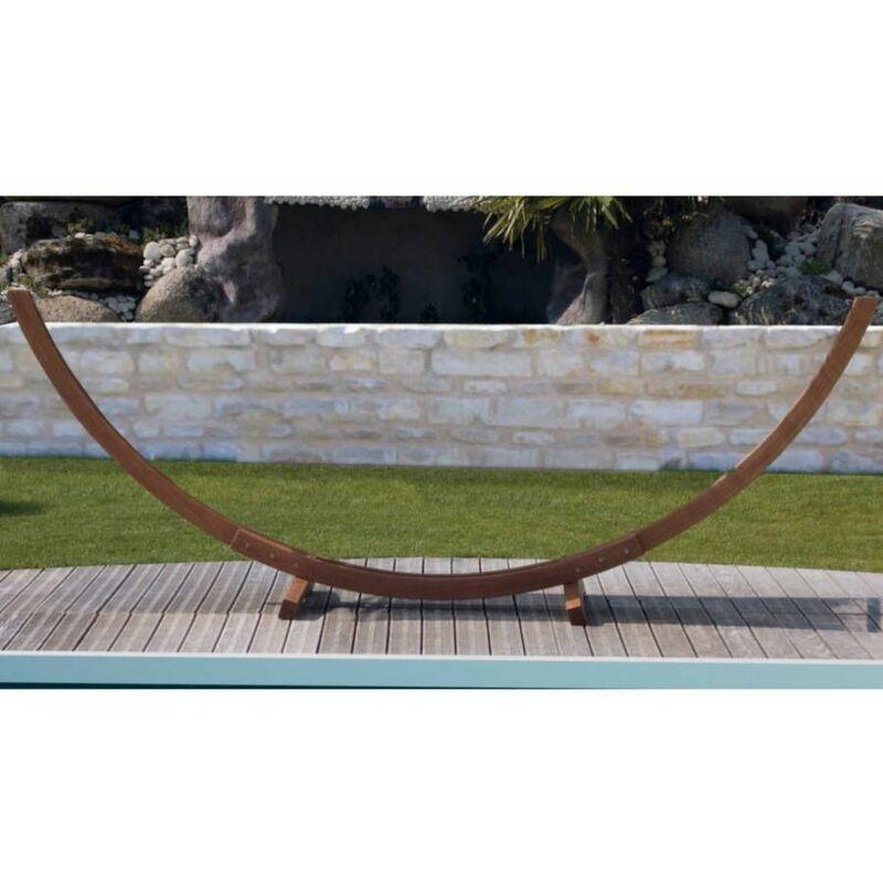 PROLOISIRS Support hamac arc meleze fsc (sans toile) - Naturel