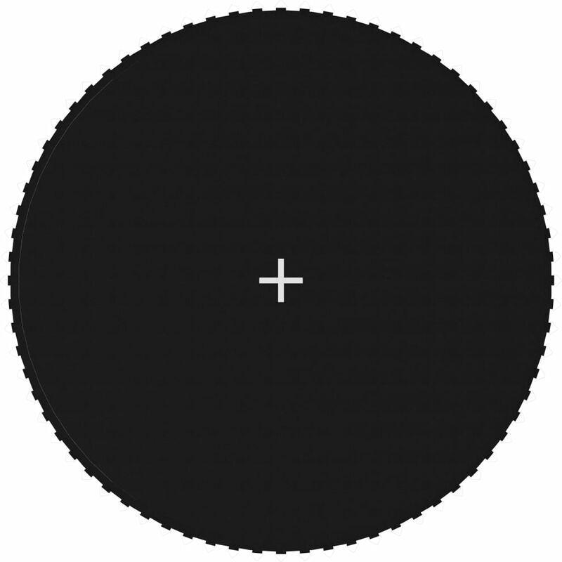 Zqyrlar - Tapis de saut Tissu Noir pour trampoline rond de 3,96 m