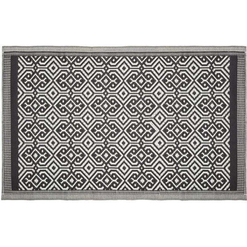 ATMOSPHERA, CRÉATEUR D'INTÉRIEUR Tapis extérieur 120x180 cm Mandala noir - Noir