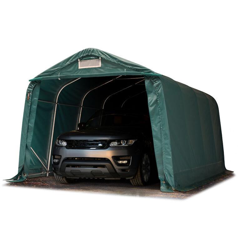 INTENT24.FR Tente garage carport 3,3 x 7,2 m tente d'élevage abri stockage H 2,1m, bâches
